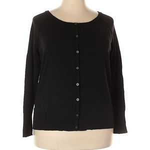 Lane Bryant black button front cardigan size 18/20